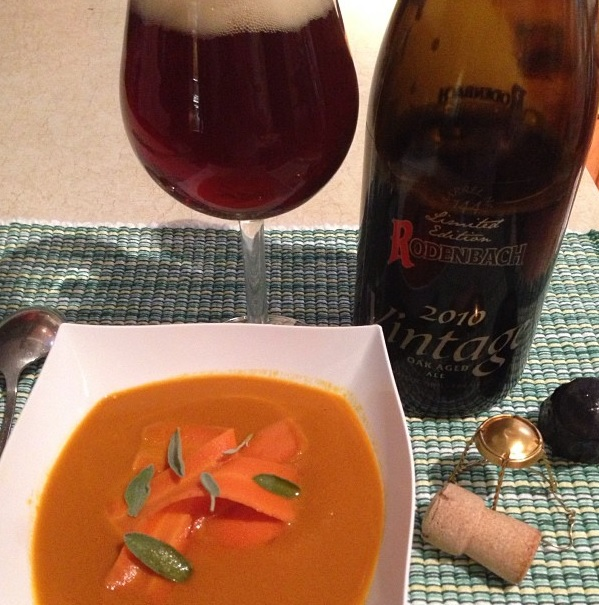 Caramelized Carrot Soup with 2010 Rodenbach