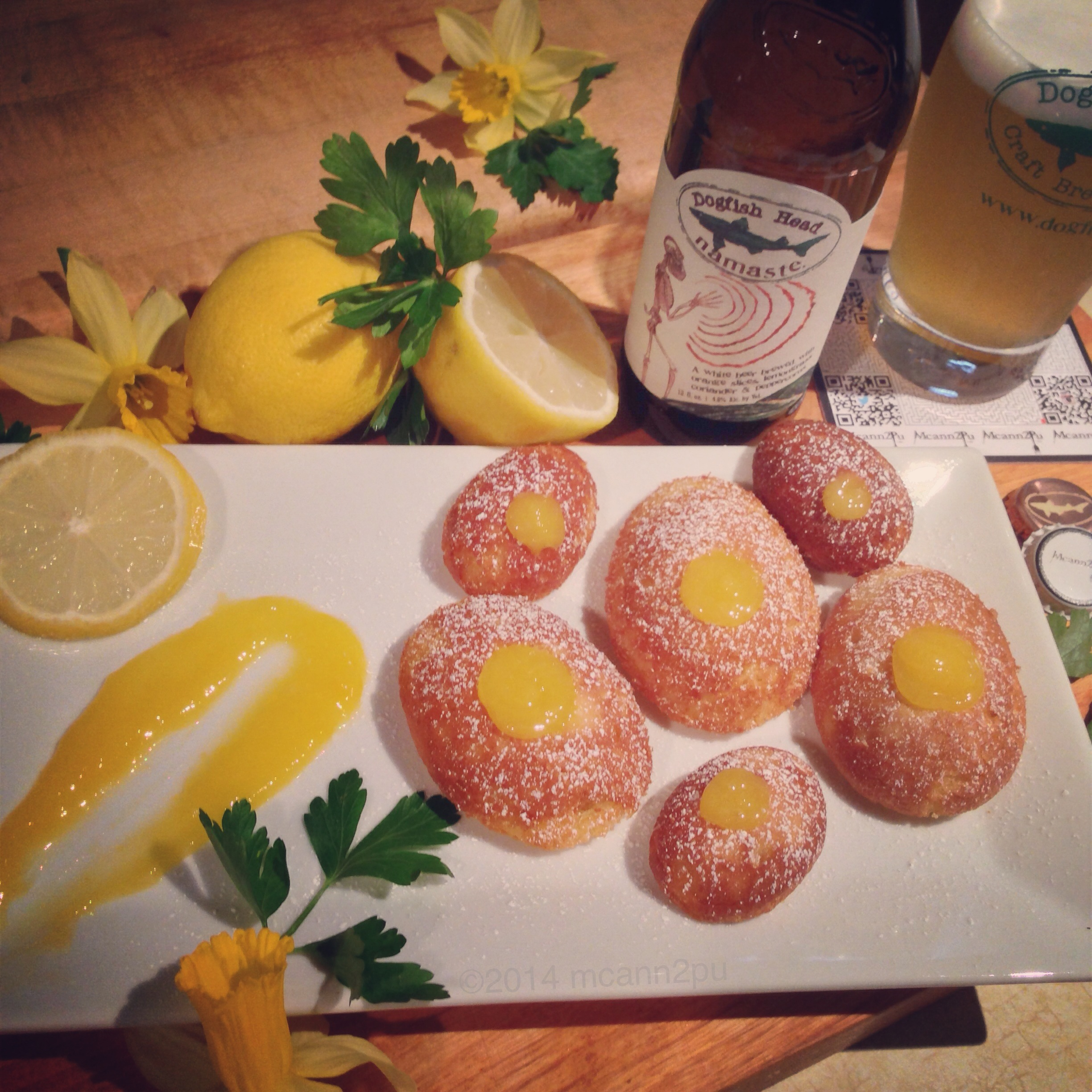 Lemon Curd Filled Madeleines