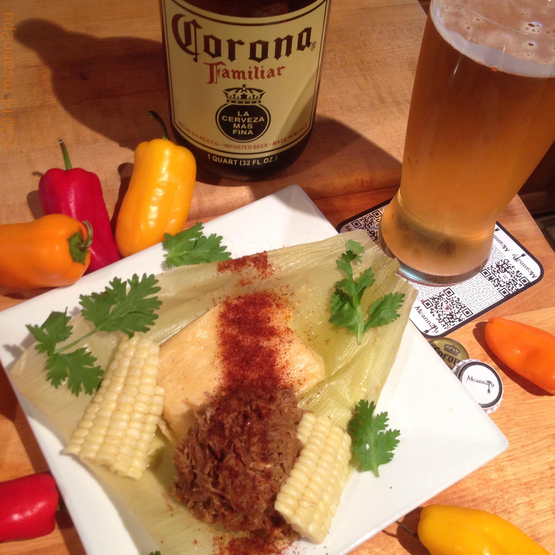 Carnitas with Fresh Corn Tamales