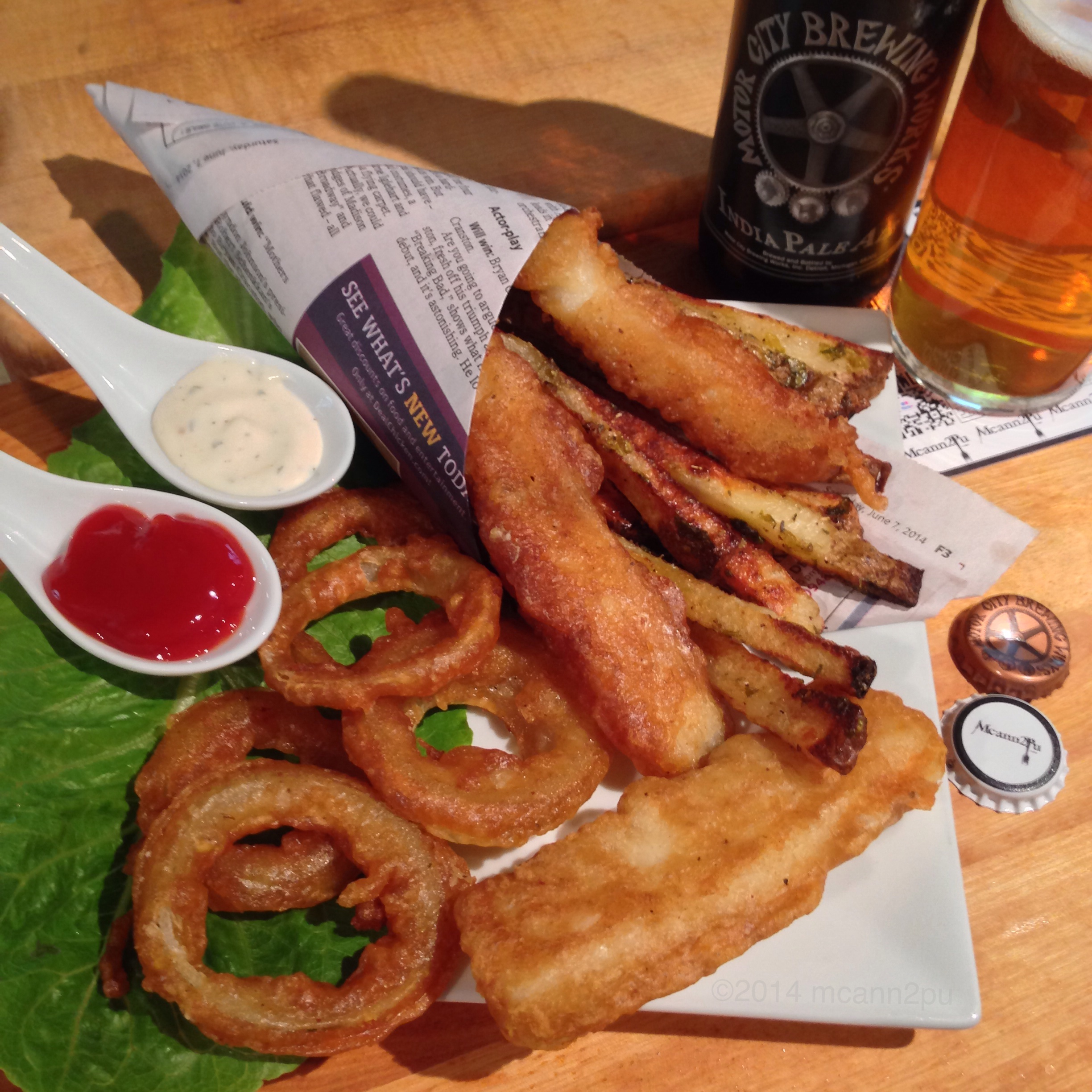 Fish and Chips with Onion Rings