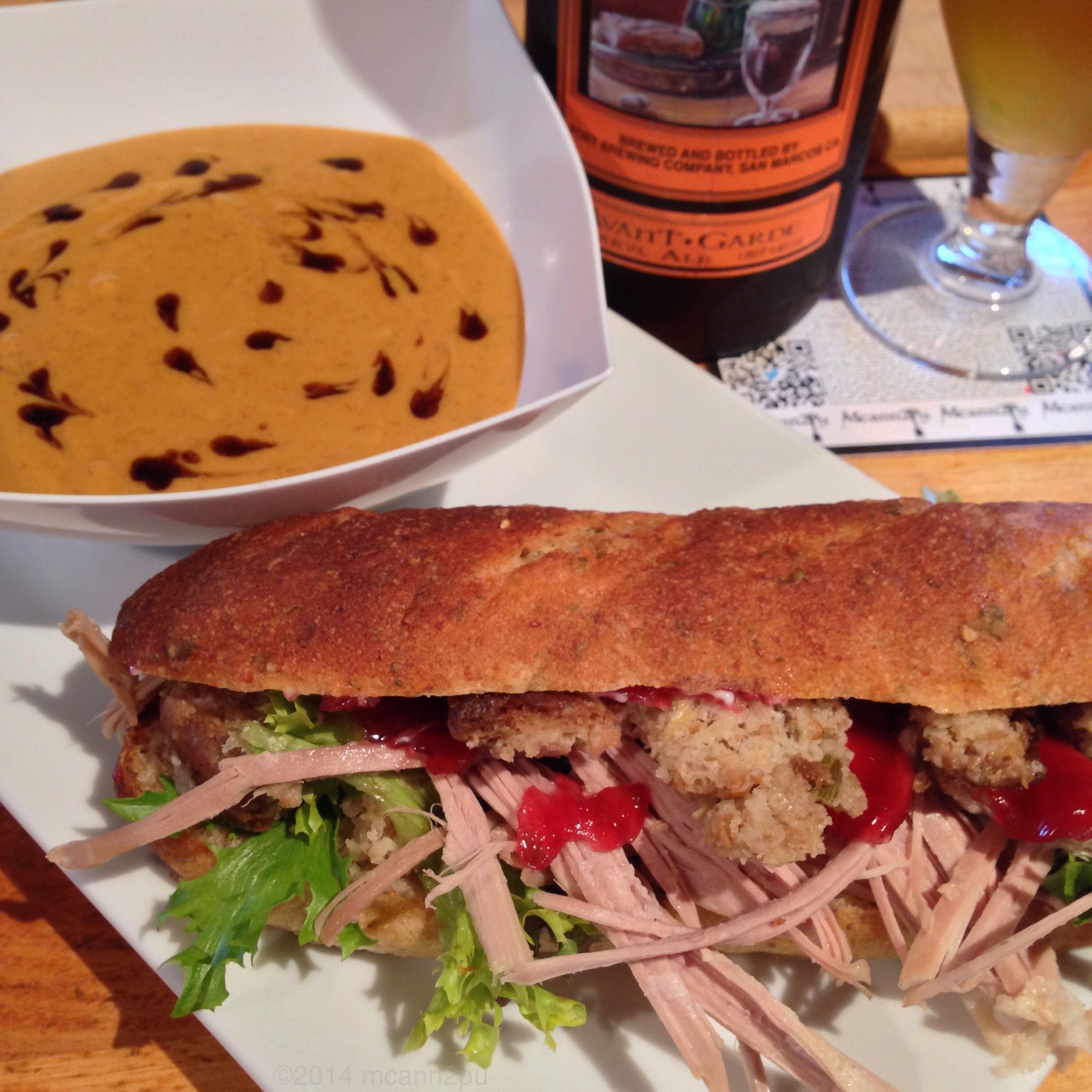 Bobbie Sandwich and Spiced Butternut Bisque Soup for Thanksgiving