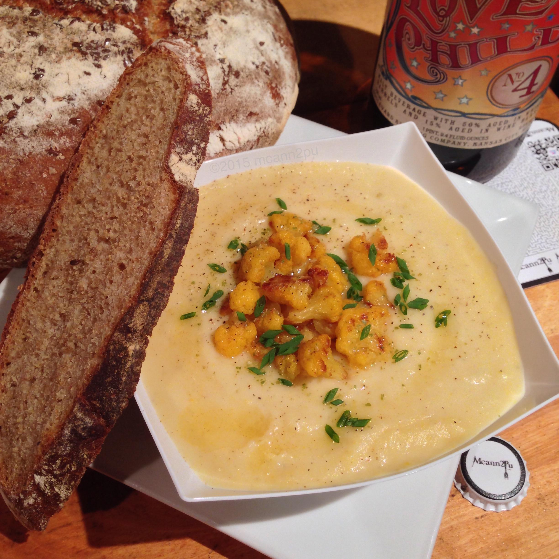 Cauliflower Soup with Rye Bread