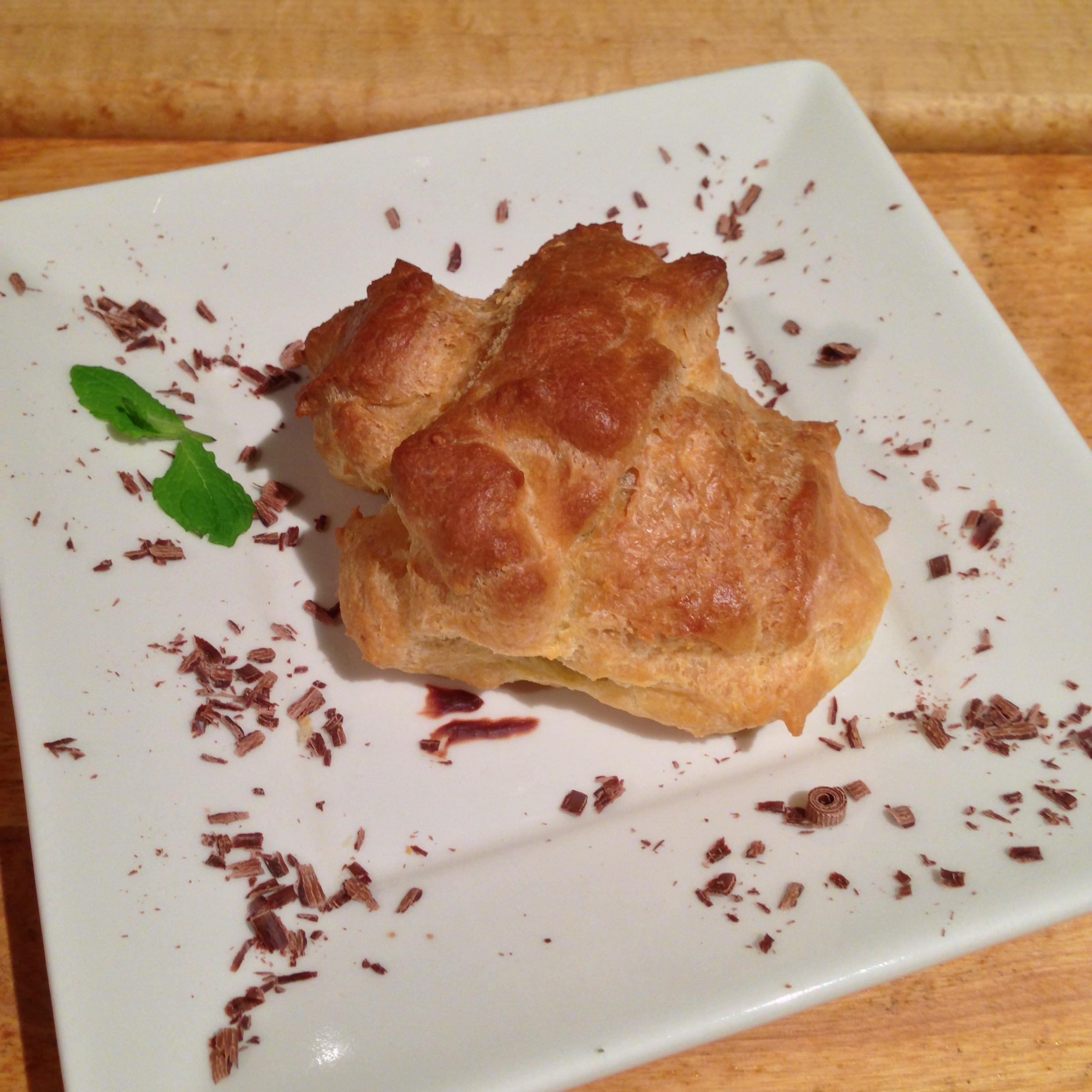 Dark Chocolate Mousse Filled Popovers