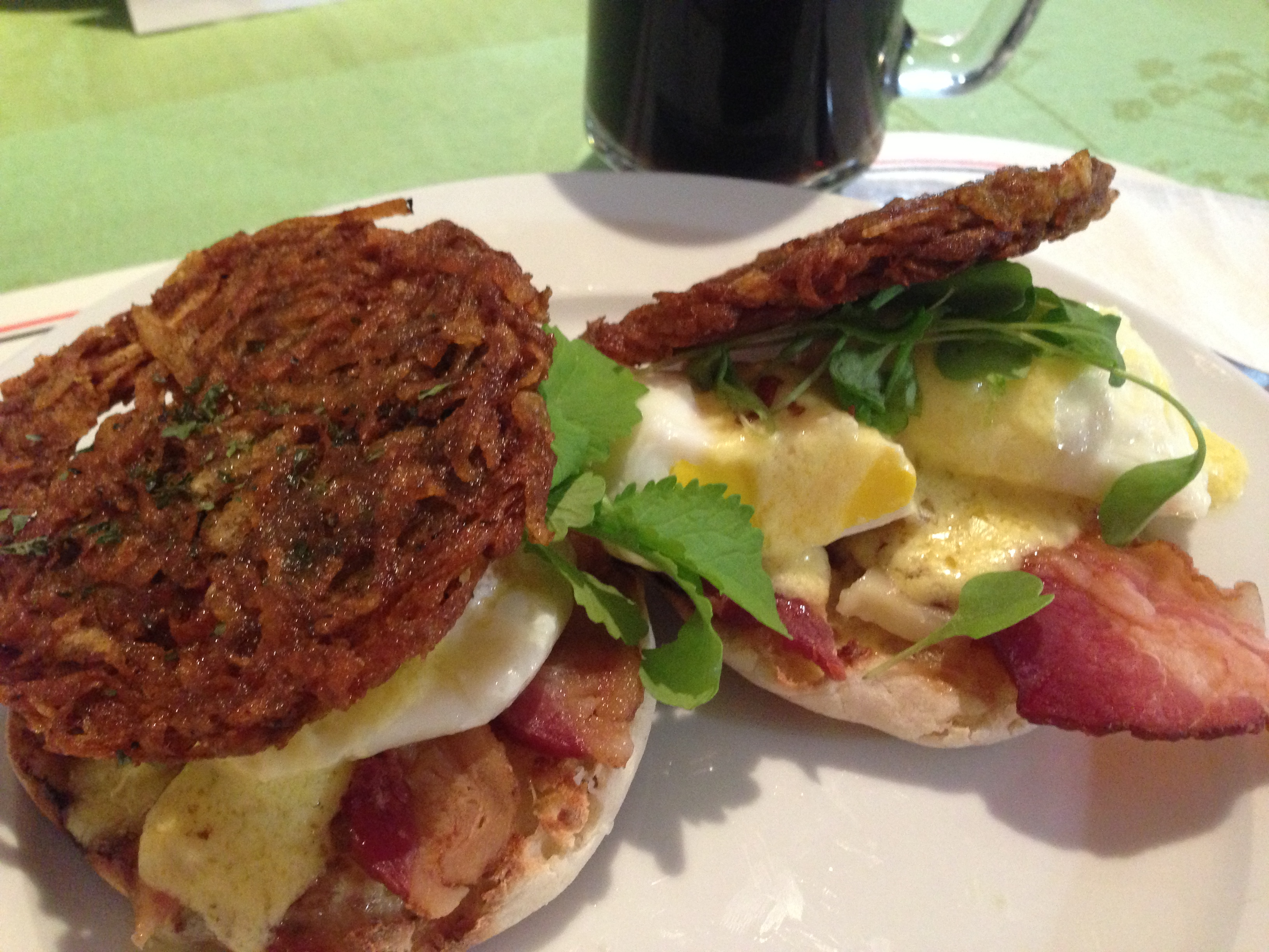Poached Egg Sandwich Close Up