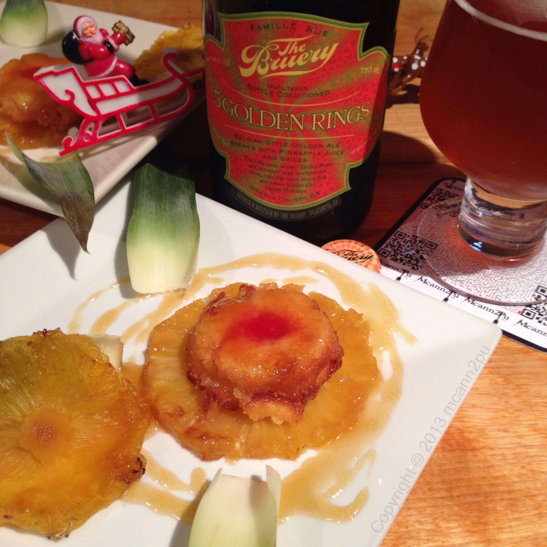 Rum Roasted Pineapple Upsidedown Cake