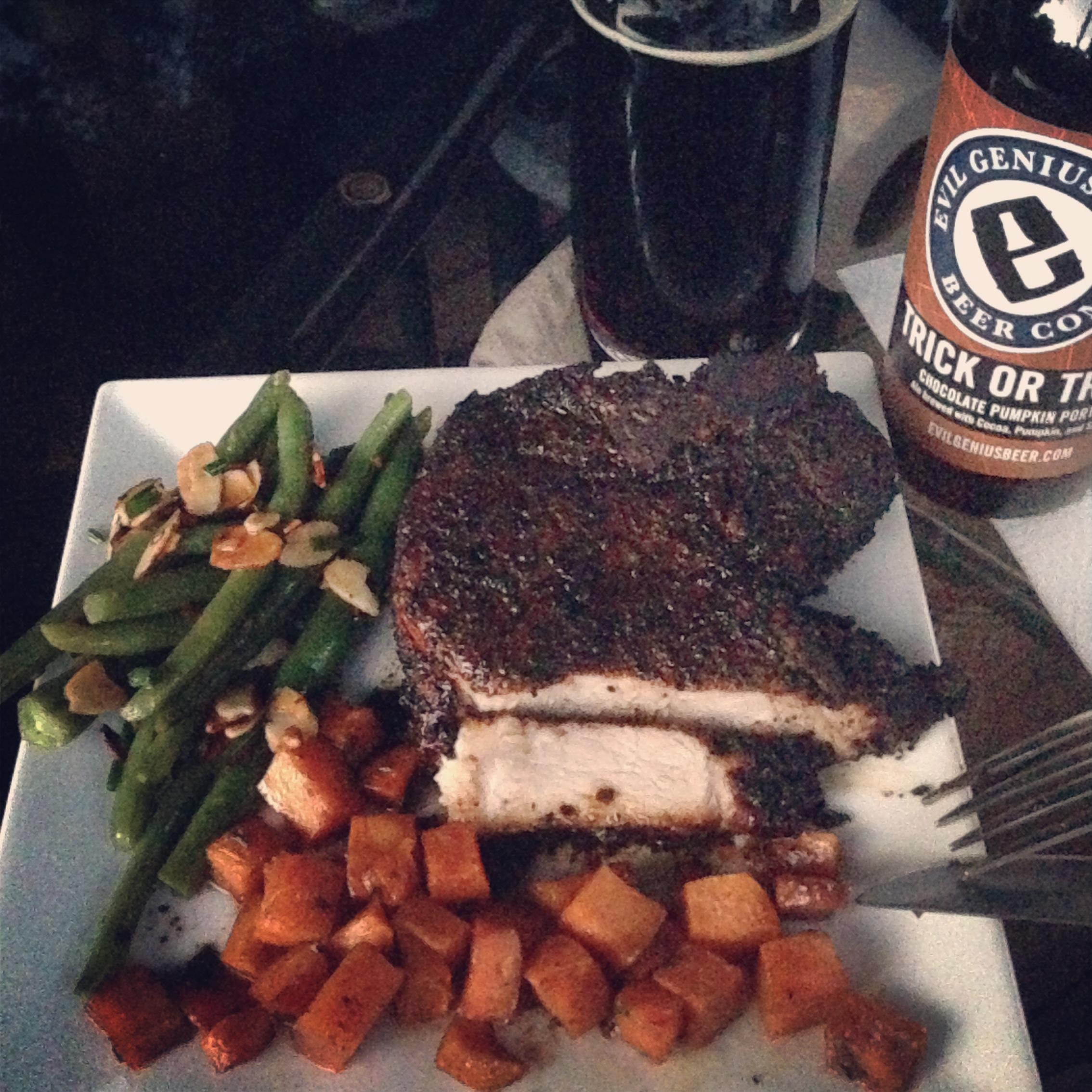 Coffee-rubbed Porterhouse Steak