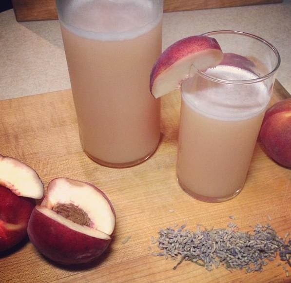 White Peach and Lavender Soda
