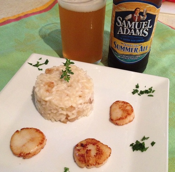 Seared Scallops with Shrimp Risotto