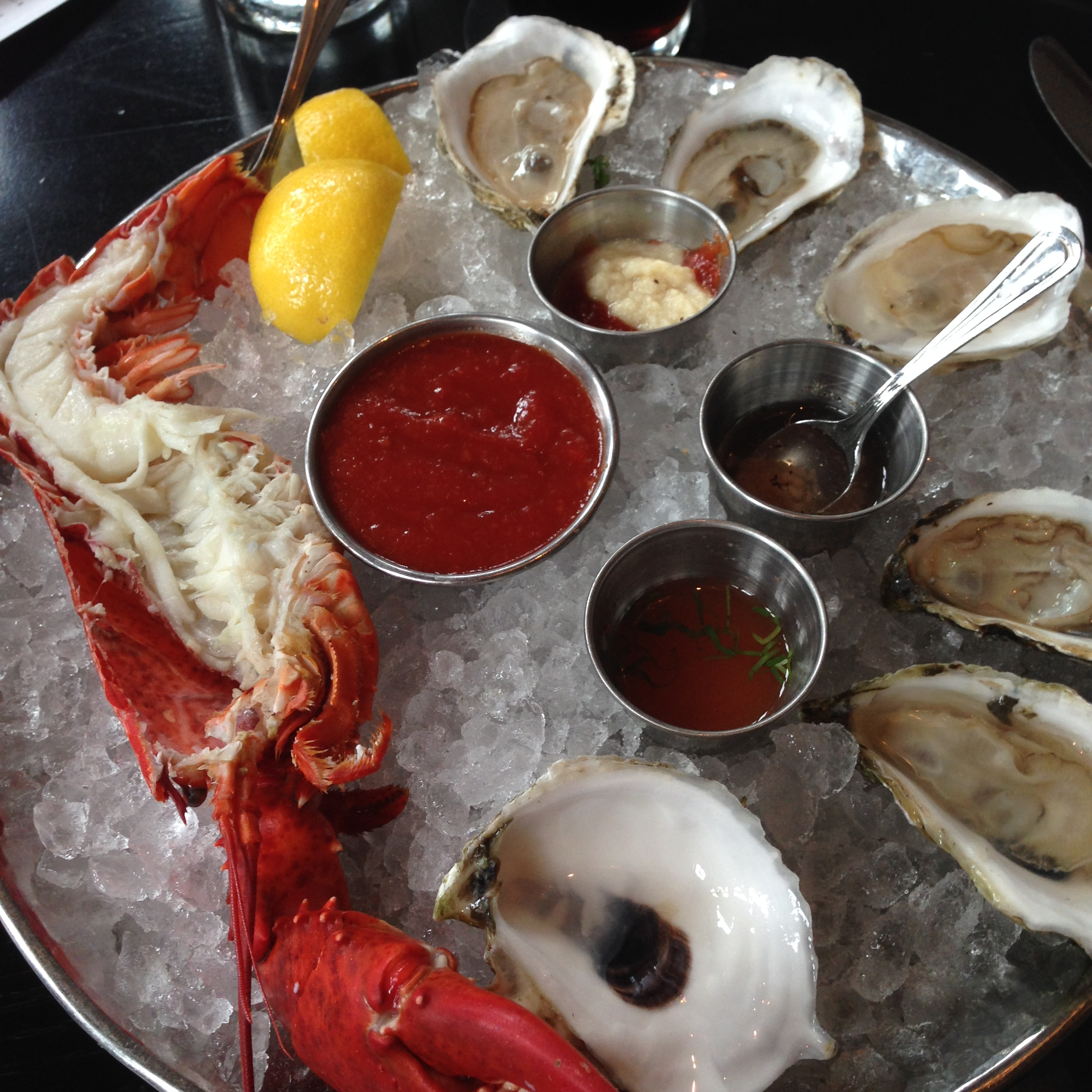 Row 34. Raw Bar. Lobster and Oysters