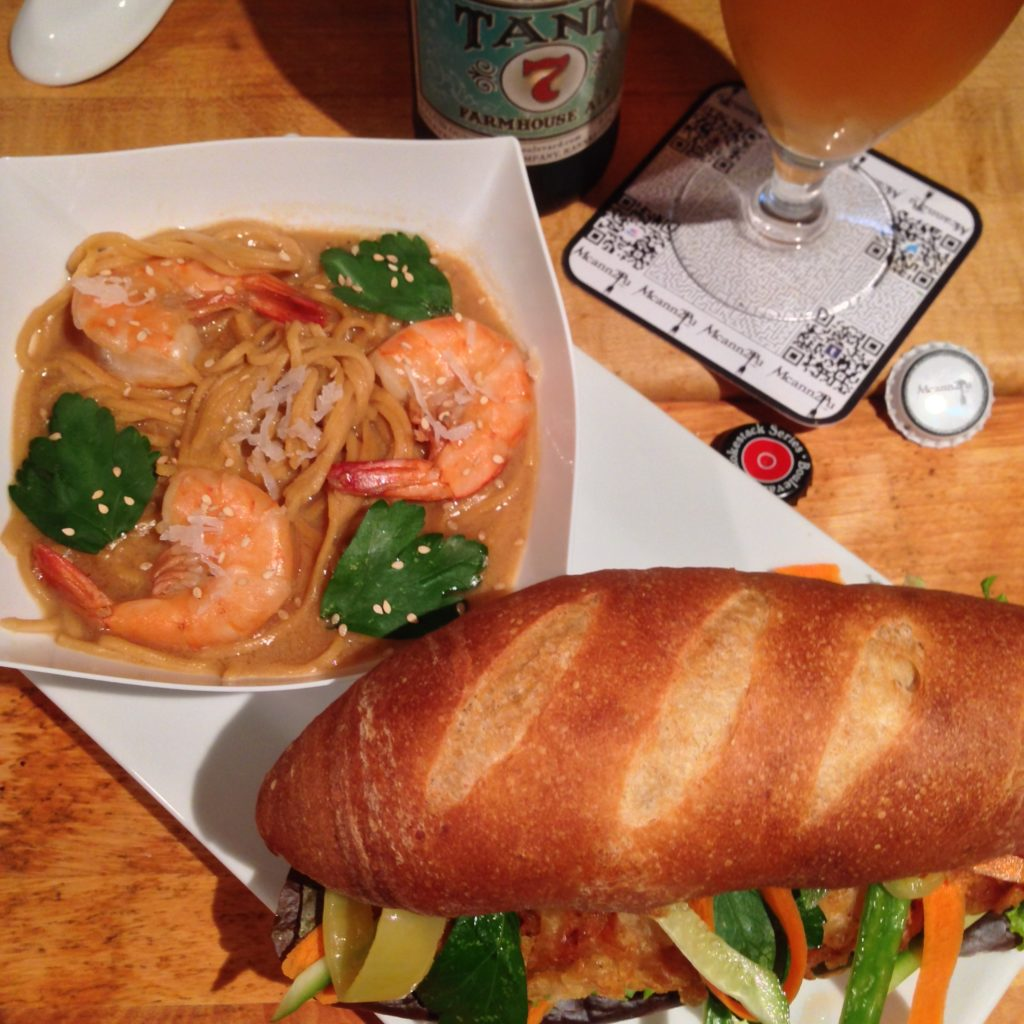 Coconut Noodle Thai Soup with Fish Buhn Mi on Home Baked Rolls